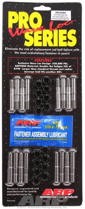 "ARP - ARP2556402 - ARP High Performance Pro Wave-Loc Rod Bolts- Ford 390,428  ""FE"" Block 13/32"" Bolt- Complete Set"