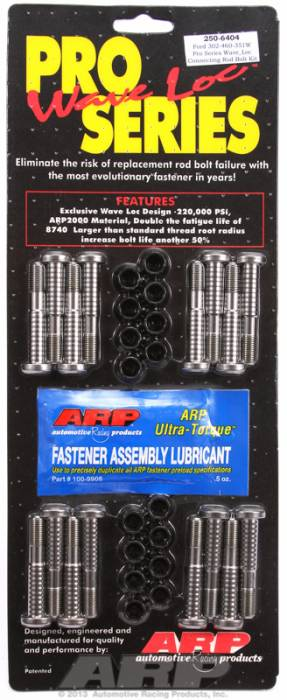 ARP - ARP2506404 - ARP High Performance Pro Wave-Loc Rod Bolts- Ford Boss 302 & 351W- Complete Set