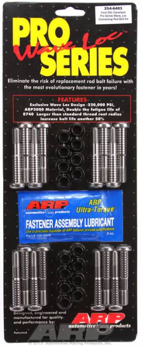 "ARP - ARP2546403 - ARP High Performance Pro  Wave-Loc Rod Bolts- Ford 289,302- Standard 5/16""-Complete Set"