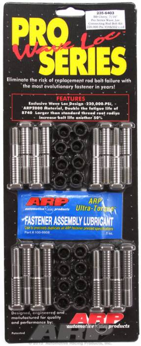ARP - ARP2356403 - ARP-Rod Bolts-High Performance Pro Wave-Loc-Chevy 1962-1965 409- Complete Set