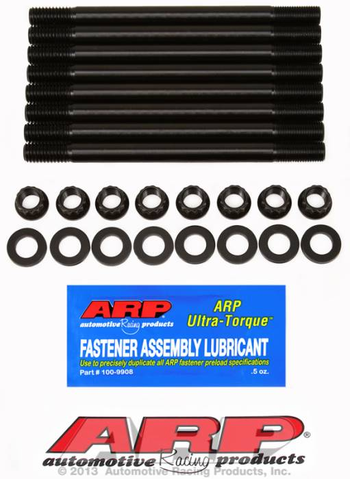 ARP - ARP2354306 - ARP Head Stud Kit- Chevy Big Block -With  Late Bowtie Head, Dart Merlin, Iron And Aluminum Dart 360, Edelbrock, Dart Pro 1 - 12 Point Nuts- Long Exhaust Side Studs (Only 8 Pieces) * (With Nuts & Washers)