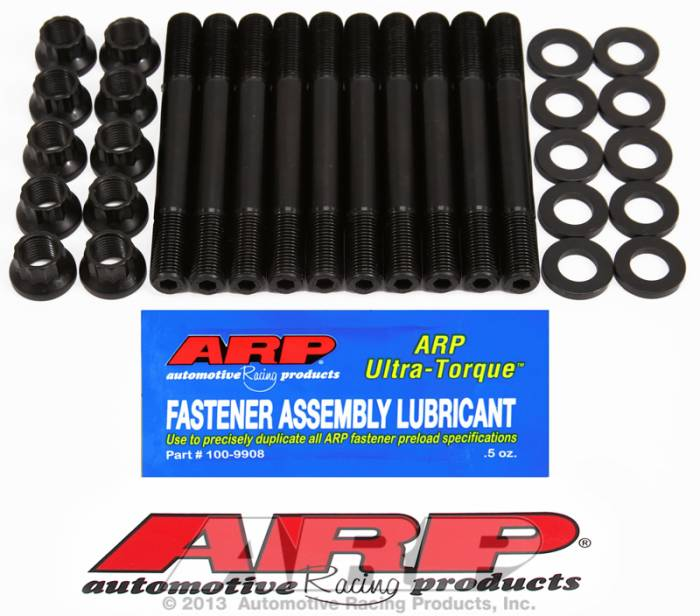 ARP - ARP2074201 -  ARP Head Stud Kit- Mitsubishi - 2.0L 4Cyl, 16Valve, 12mm, 4G63 Up To 1994- 12 Point Nuts