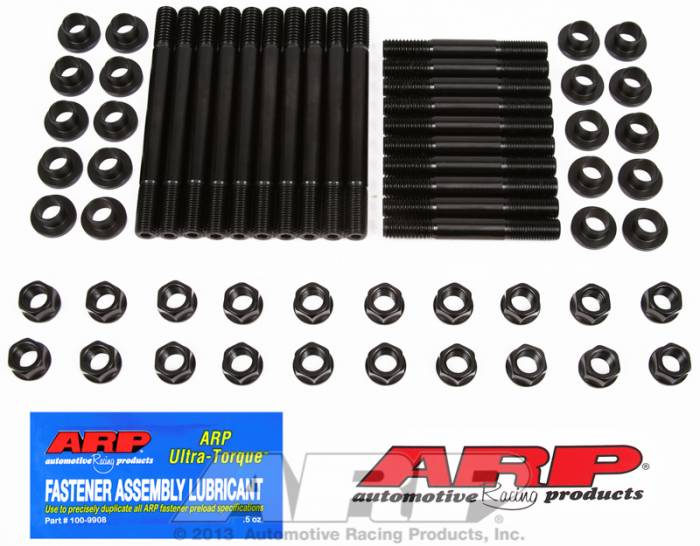 "ARP - ARP1544005 - ARP Head Stud Kit- Ford Small Block- 289-302 With 351W Head, 7/16""-14 Cylinder Block Thread, M-6049-J302, Svo High Port & M-6049-L302, Afr 185, Edelbrock Aluminum, Gt40 Style With Insert ""T"" Washer  - 6 Point Nuts"