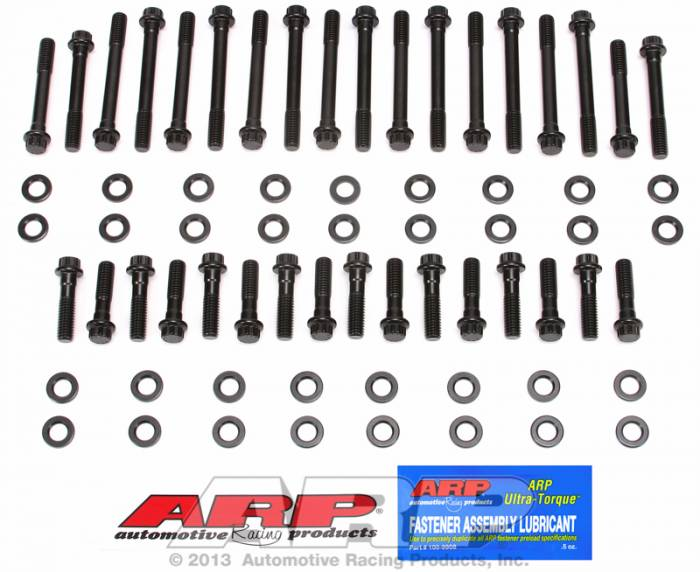 ARP - ARP1343701 -ARP Head Bolt Kit- Chevy Small Block -23 Degree cast Iron OEM Heads, Vortec Heads,Most Edelbrock, AFR, Brodix 8-10-11-11XB, LT1/LT4 , Pro 1, Trick Flow -High Performance Series- 12 Point Head