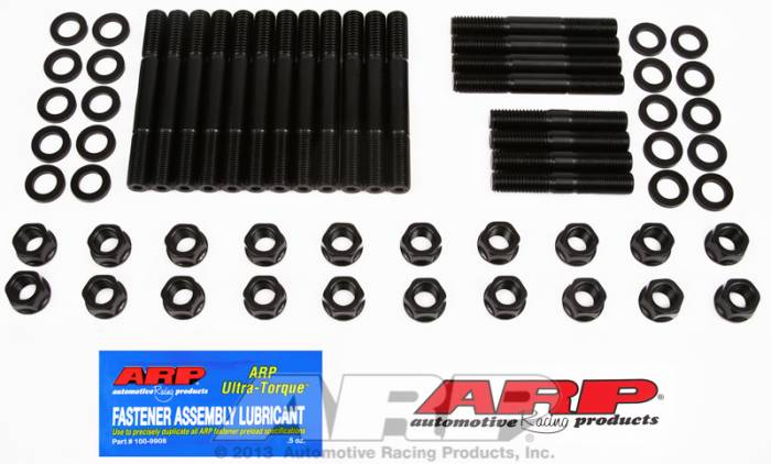 "ARP - ARP1904002 - ARP Head Stud Kit- Pontiac -350,400-428 * 67' And Previous, ""D"" Port- 6 Point Nuts"