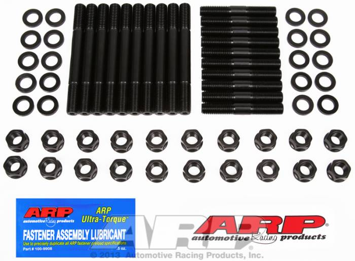 "ARP - ARP1544003 - ARP Head Stud Kit- Ford Small Block- 351W , 1/2""-13 Cylinder Block Thread, M-6049-J302, SVO High Port & M-6049-L302, Iron Dart, Edelbrock Aluminum, GT40 Style  - 6 Point Nuts"