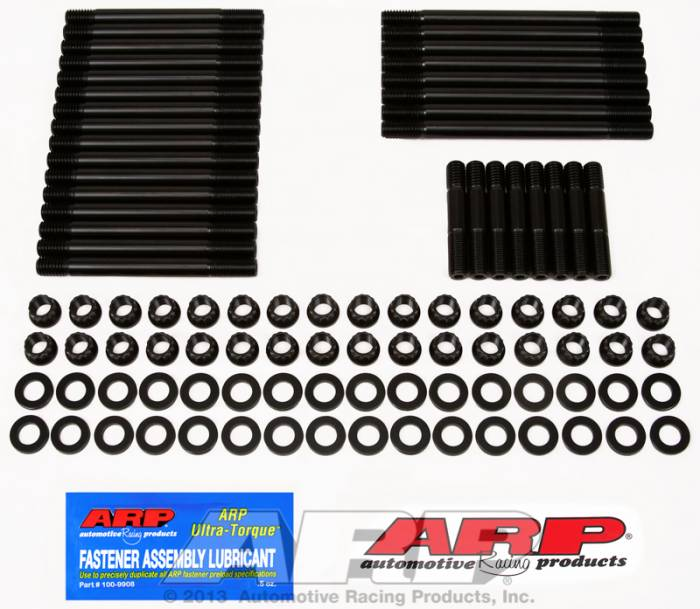 ARP - ARP2354303 - ARP Head Stud Kit- Chevy Big Block -With  Late Bowtie Head, Dart Merlin, Iron And Aluminum Dart 360, Edelbrock, Dart Pro 1 - 12 Point Nuts
