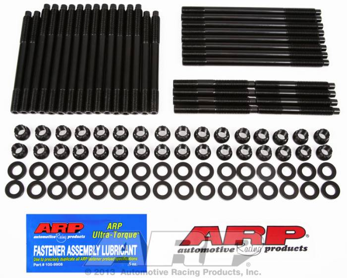 ARP - ARP1354303 -ARP Head Stud Kit- Chevy Big Block-With Brodix, With Dart Pro 1 Or 360 Heads With Brodix Aluminum Block- 12 Point Nuts