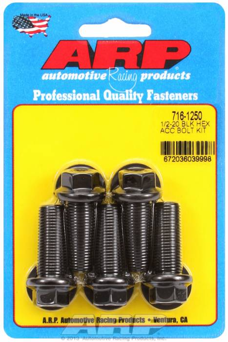 ARP - ARP7161250 - HEX BLK OXIDE BOLTS