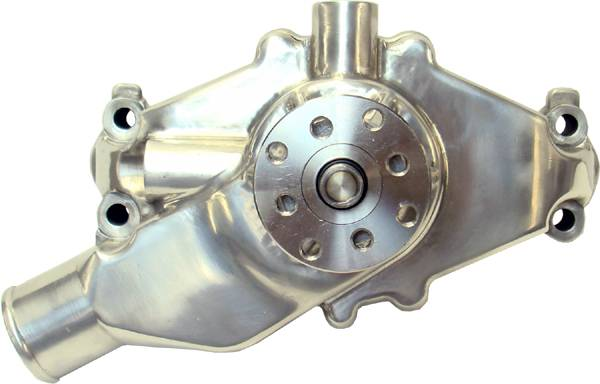 Proform - 68244 - High Flow Aluminum Mechanical Water Pump, Chevy Small Block, Polished, Short