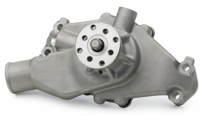 Proform - 68245 - High Flow Aluminum Mechanical Water Pump, Chevy Small Block, Satin, Short