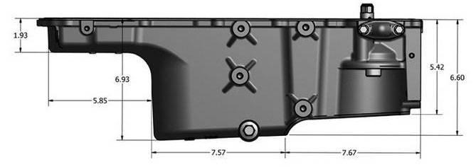 GM (General Motors) - 12640748 - LS  Oil Pan