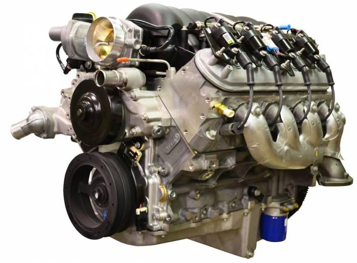 PACE Performance - GMP-19301358-PX  Pace Prepped & Primed LS3 495HP  Engine with Installed Holley Swap Oil Pan