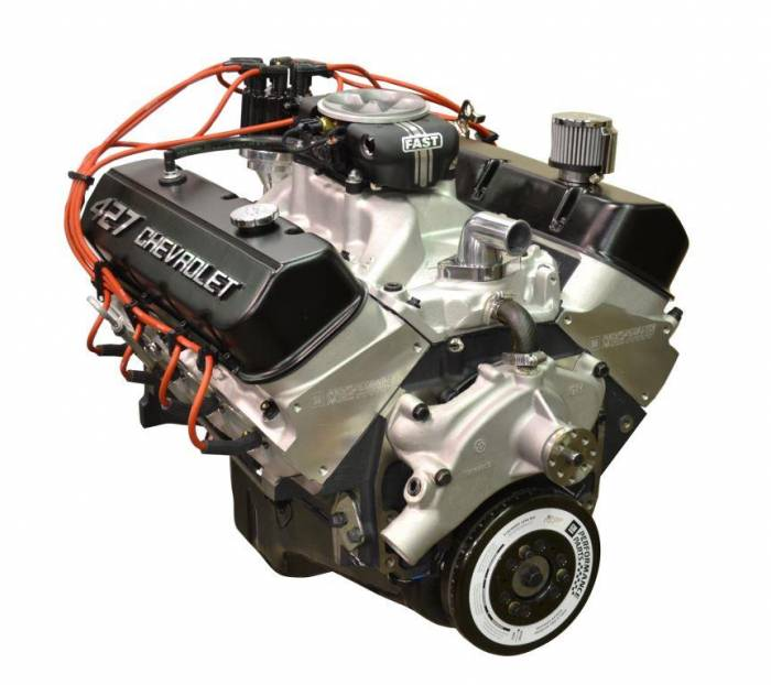 PACE Performance - GMP-19166393-F2X  - Pace  Fuel Injected ZZ427 505HP EFI Crate Engine with GM 4QT Muscle Car Pan