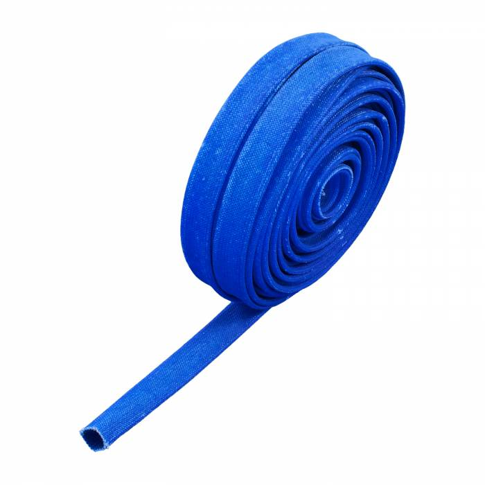 "Heatshield Products - HSP203122 - Colored Sleeving - 25' Roll, Adjustable Inside Diameter:1/4"" To 7/16"" - Withstands 1200 Degrees F Continuous - Blue"
