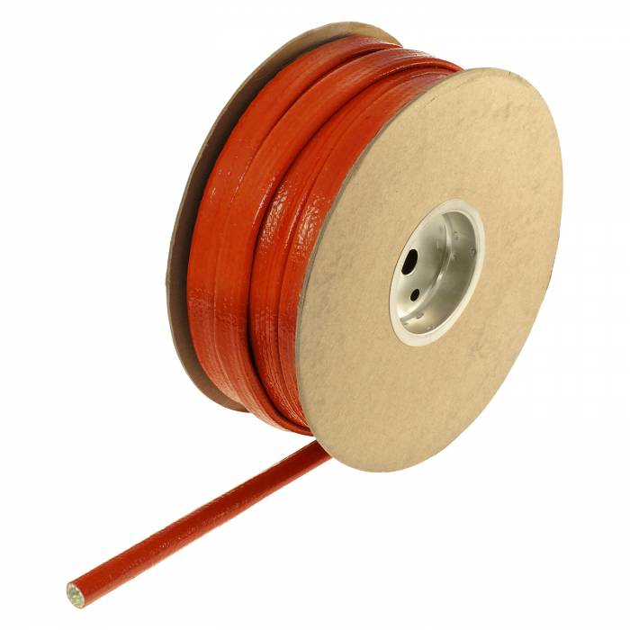 "Heatshield Products - HSP210110 - Red Hot Sleeving - 3/8"" ID X 100' Red Silicone Coating Withstands 450 F Continuous"
