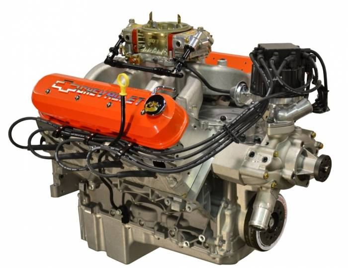 PACE Performance - LS3 550 HP Pace Performance Crate Engine Carbureted  with HEI & Orange Valve Covers GMP-19370413-C5X
