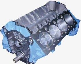 Blue Print - BP3837 - BluePrint SBC 383CID with Forged 12.8cc Dished Pistons Partial Short Block Engine 1pc Rear Seal