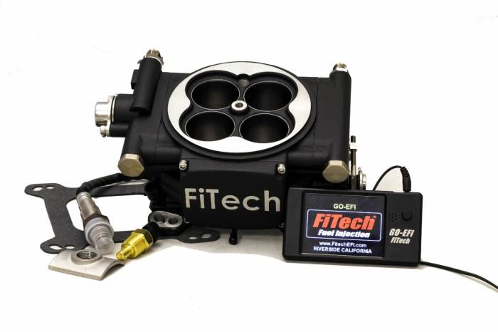 FiTech Fuel Injection - FTH-30002 - FiTech Fuel Injection Go EFI 4 600 HP  Basic Kit - Matte Black Finish