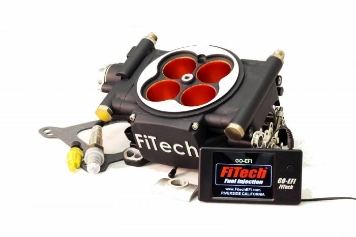 FiTech Fuel Injection - FTH-30004 - FiTech Fuel Injection Go EFI Power Adder 600HP Matte Black Finish Basic Kit