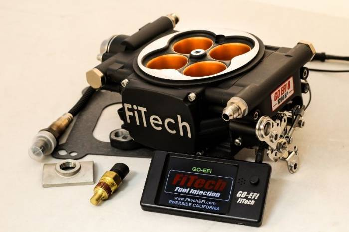 FiTech Fuel Injection - FTH-30012 - FiTech Fuel Injection Go EFI 8 1200 HP (Power Adder Plus) -Matte Black Finish