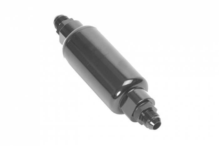 FiTech Fuel Injection - FTH-80111 - FiTech Fuel Injection 100 Micron Inline EFI Fuel Filter - Black  #8 fittings