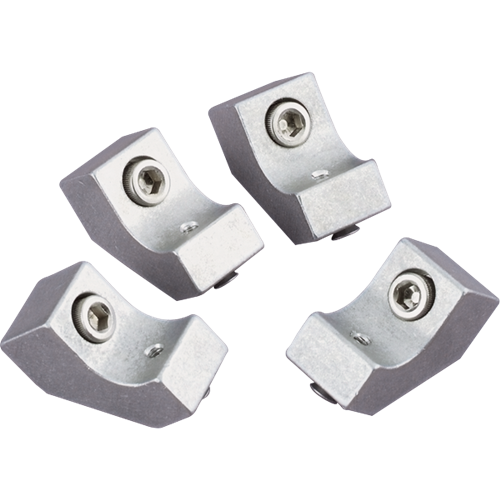 Billet Specialties - BSP69600 - Late Model Wire Loom Mounting Bracket for Center Bolt Valver Covers, Set of 4