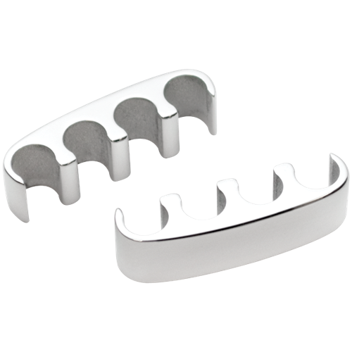 Billet Specialties - BSP69601 - Billet Specialties Spark Plug Wire Separators - 4 Wire Floating, Polished