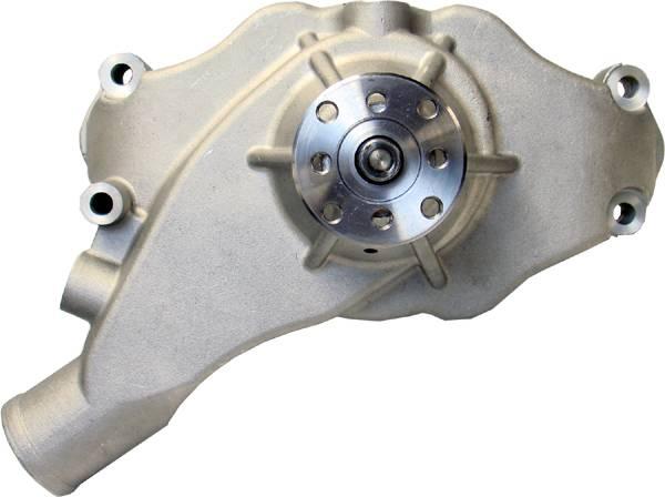Proform - 68243 - High Flow Aluminum Mechanical Water Pump, Chevy Big Block, Satin, Short