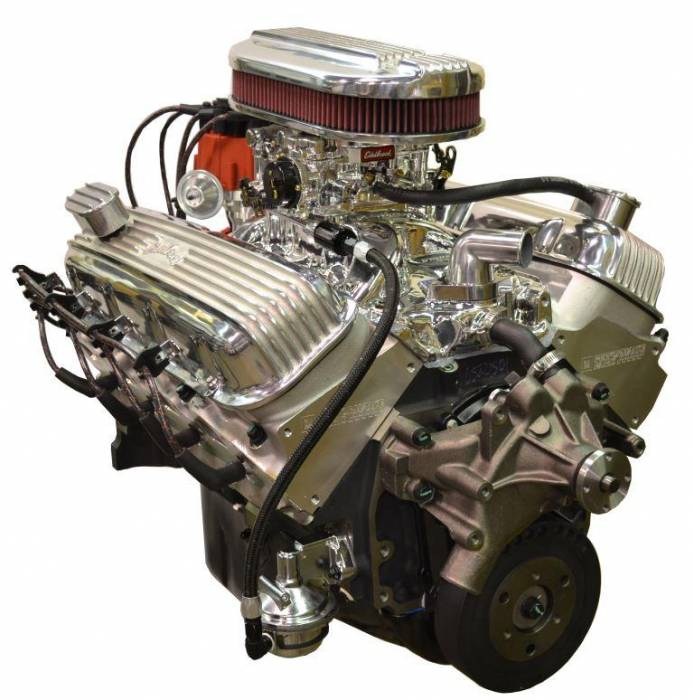 PACE Performance - GMP-12498777-3X - Pace Prepped & Primed CPP ZZ454 440HP Polished Finish Crate Engine with GM 4QT Muscle Car Oil Pan