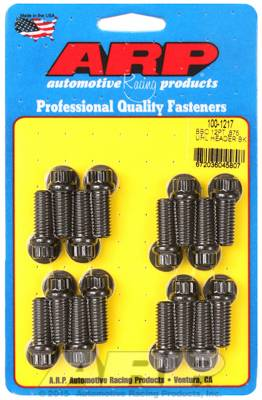 "ARP - ARP1001217 - Chevrolet Big Block Header Bolt Kit, 0.875˝ UHL, 3/8"" Diameter, 12 Point Head, Black Oxide"