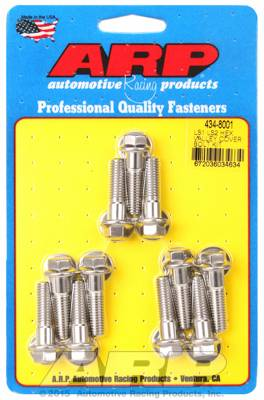 ARP - ARP4348001 - ARP Intake Valley Cover Bolt Kit, Chevy Ls1/Ls2, Stainless Steel, Hex Head