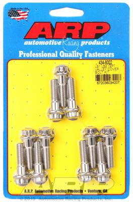 ARP - ARP4348002 - ARP Intake Valley Cover Bolt Kit, Chevy Ls1/Ls2, Stainless Steel, 12 Point Head