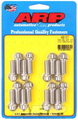 """ARP - ARP4001217 - ARP Header Bolt Kit, Chevrolet Big Block, 3/8"""" Diameter, 3/8"""" Wrench, .875 UHL, Stainless Steel, 12 Point Head, 16 per Package"""