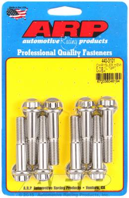 ARP - ARP4403101 - ARP Chrysler 5.7L & 6.1L Hemi Motor Mount Bolt Kit, Stainless Steel, 12 Point Head
