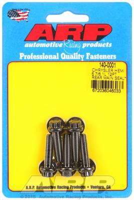 ARP - ARP1400001 - ARP Rear Motor Cover Bolt Kit, Chrysler Hemi 5.7/6.1L, Black Oxide, 12 Point Head