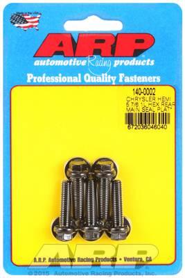 ARP - ARP1400002 - ARP Rear Motor Cover Bolt Kit, Chrysler Hemi 5.7/6.1L, Black Oxide, Hex Head