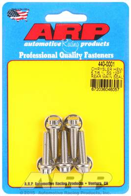ARP - ARP4400001 - ARP Rear Motor Cover Bolt Kit, Chrysler Hemi 5.7/6.1L, Stainless Steel, 12 Point Head