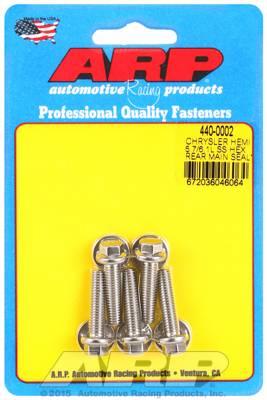 ARP - ARP4400002 - ARP Rear Motor Cover Bolt Kit, Chrysler Hemi 5.7/6.1L, Stainless Steel, Hex Head