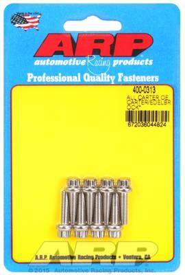 ARP - ARP4000313 - ARP Carter AFB & Edelbrock Performer/Thunder Carburetor Bolt Set, 8 Piece