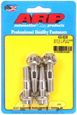 ARP - ARP4008008 - ARP Metric Stainless Accessory Studs, M10 x 1.5 x 1.25, 4 Pack