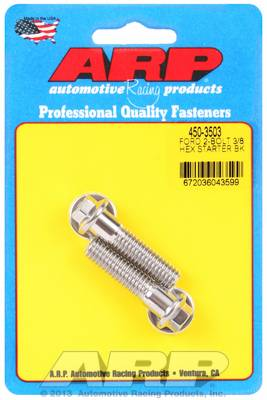 "ARP - ARP4503503 - ARP Stainless Starter Bolts - Ford V8 - With Stock Starter - 1.50"" UHL, 3/8-16, Hex Head - Package Of 2"