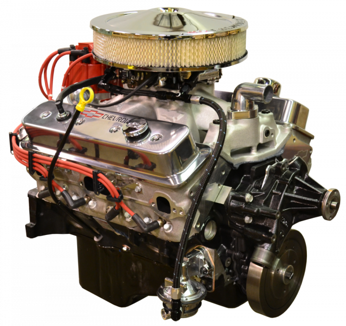PACE Performance - GMP-700R4SP383-3 -  Pace Prepped & Primed CPP SP383 435HP Polished Finish Engine with 700R4 Transmission Package