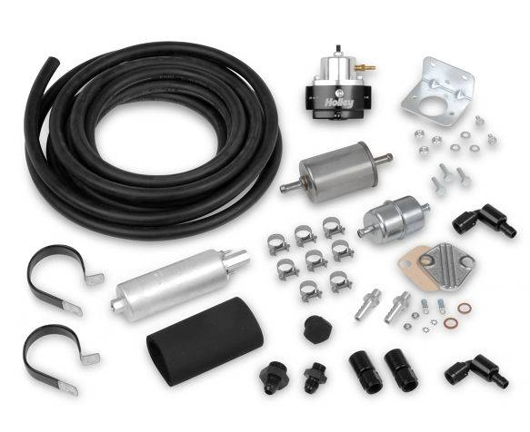 Holley Performance - HLY526-4 - Holley In-Line Fuel Pump System with Metal Filters