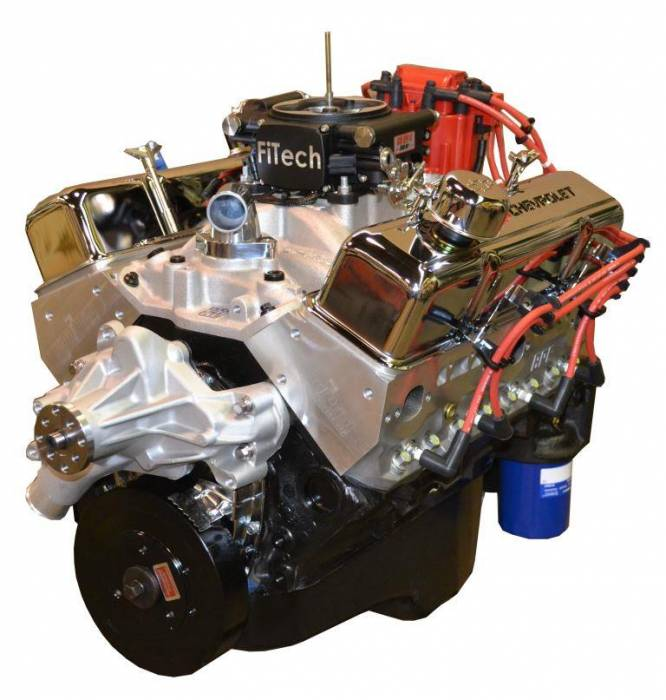 PACE Performance - BP35513CT1-1FX - Pace Fuel Injected SBC 355CID 390HP Crate Engine with Chrome Finish