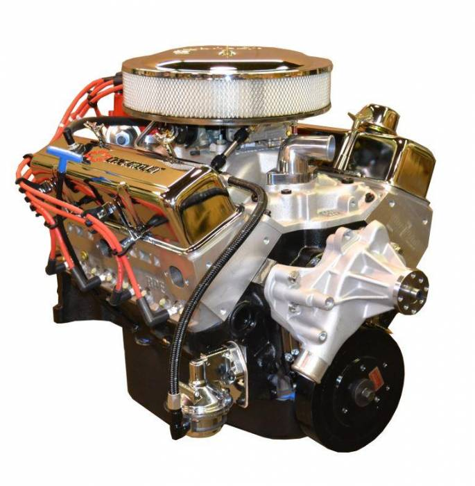 PACE Performance - BP35513CT1-1X - Pace SBC 355CID 390HP Crate Engine with Chrome Finish