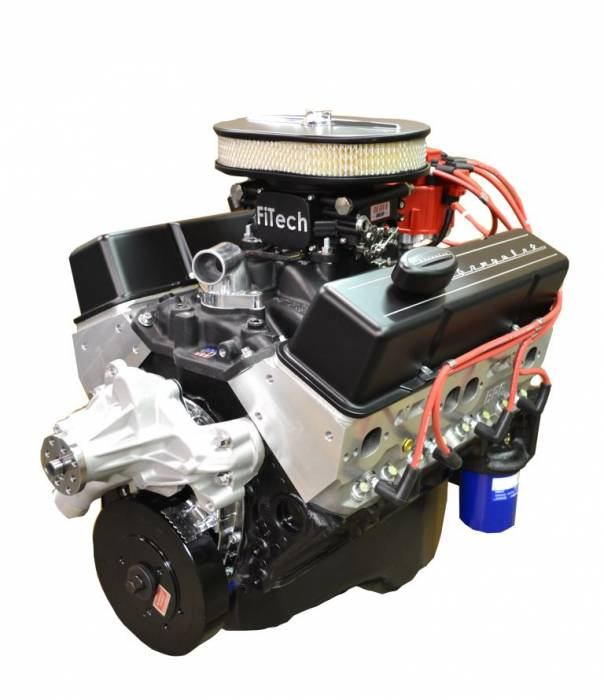 PACE Performance - BP35513CT1-2FX - Pace Fuel Injected SBC 355CID 390HP Crate Engine with Black Finish