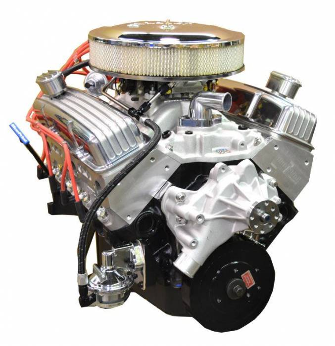PACE Performance - BP35513CT1-3X - Pace SBC 355CID 390HP Crate Engine with Polished Finish
