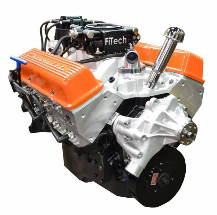 PACE Performance - BP35513CT1-5FX - Pace Fuel Injected SBC 355CID 390HP EFI Crate Engine with Orange Finish