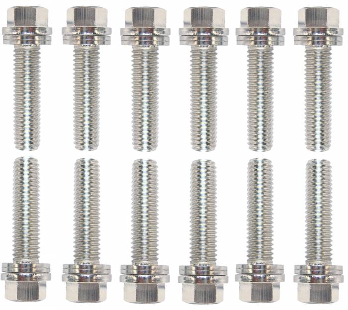 "Proform - 66755 - Wedge-Locking LS Header Bolts, 1.181"" L x 8mm, 12 bolts"